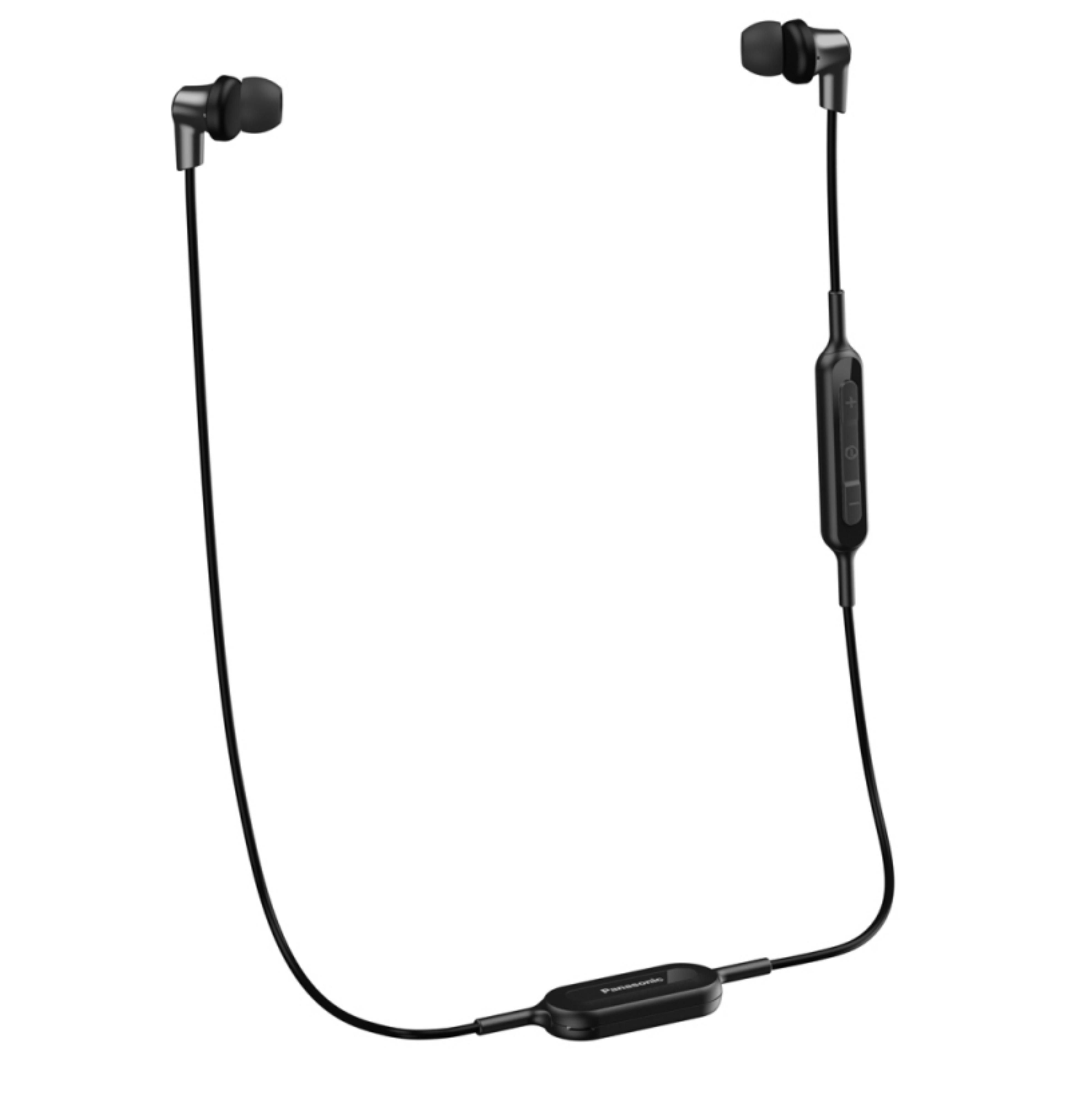 Panasonic RPNJ300BEK Wireless Ergo-Fit Bluetooth Earphone|9mm Drive|In Ear|Black