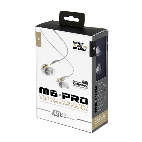 MEE Audio M6 PRO IEM Earphone / Replaceable Cable / Universal Control / Microphone - NEW Thumbnail 6