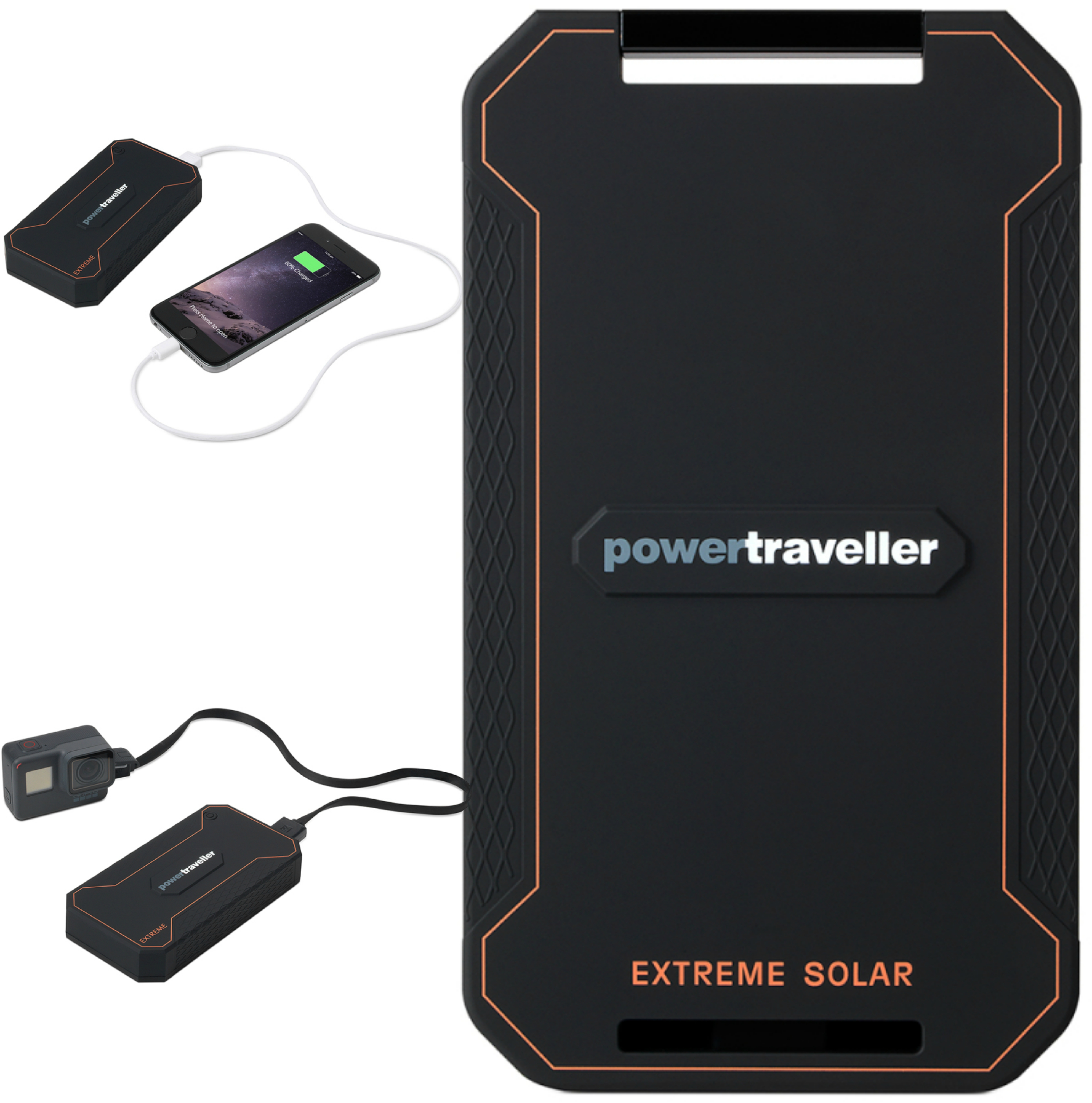 Powertraveller PTL-EXT001 Extreme Waterproof Rugged Charger?Solar Powered?NEW