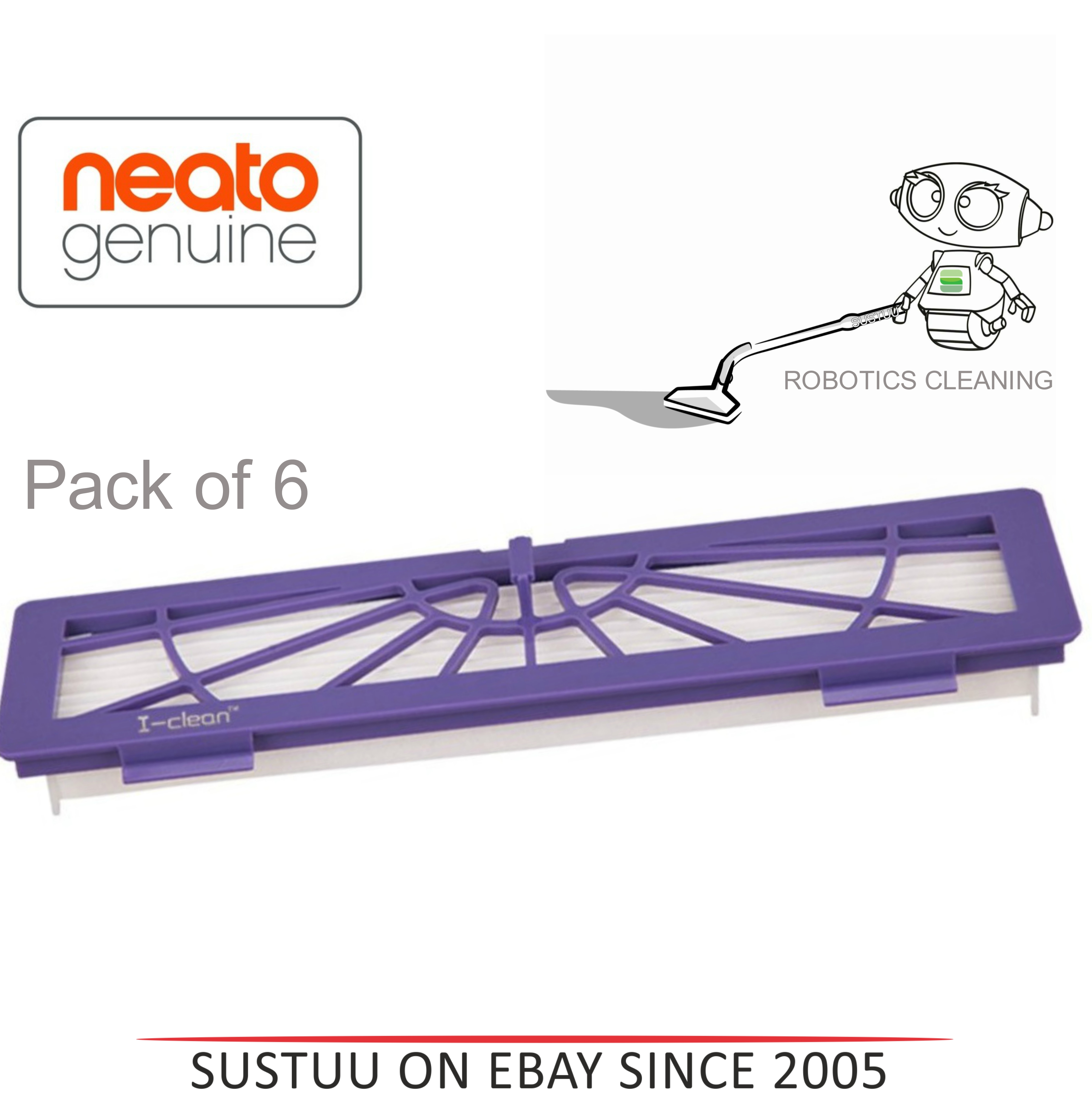 Neato Replacement High Performance Filter Pad|Botvac Series RobotVacuum Cleaning
