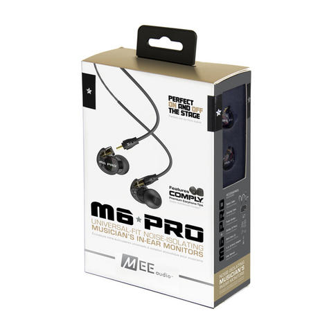 MEE Audio M6 PRO Earphone / Replaceable Cable / Universal Control Microphone / Black / Thumbnail 6