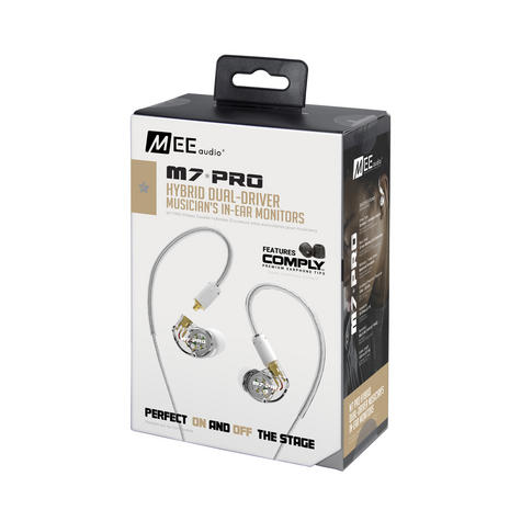 MEE Audio M7 PRO Earphone / Replaceable Cable / Universal Control / Microphone / Clear / Thumbnail 8