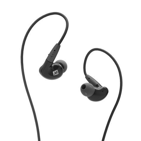 MEE Audio Pinnacle P2 High Fidelity Audiophile In-Ear Headphones/Cable- Black Thumbnail 1