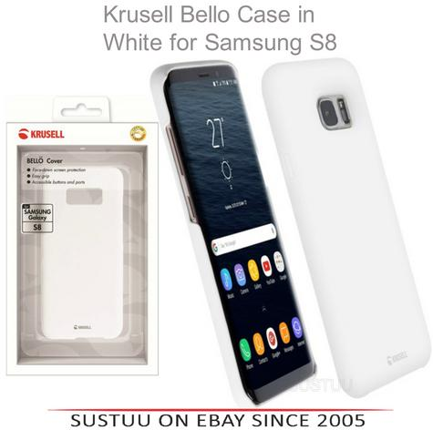Krusell Bellö Back Case | Protective Mobile Phone Cover | For Samsung Galaxy S8 | WHT Thumbnail 1