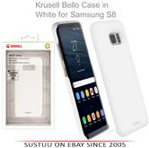 Krusell Bellö Back Case | Protective Mobile Phone Cover | For Samsung Galaxy S8 | WHT