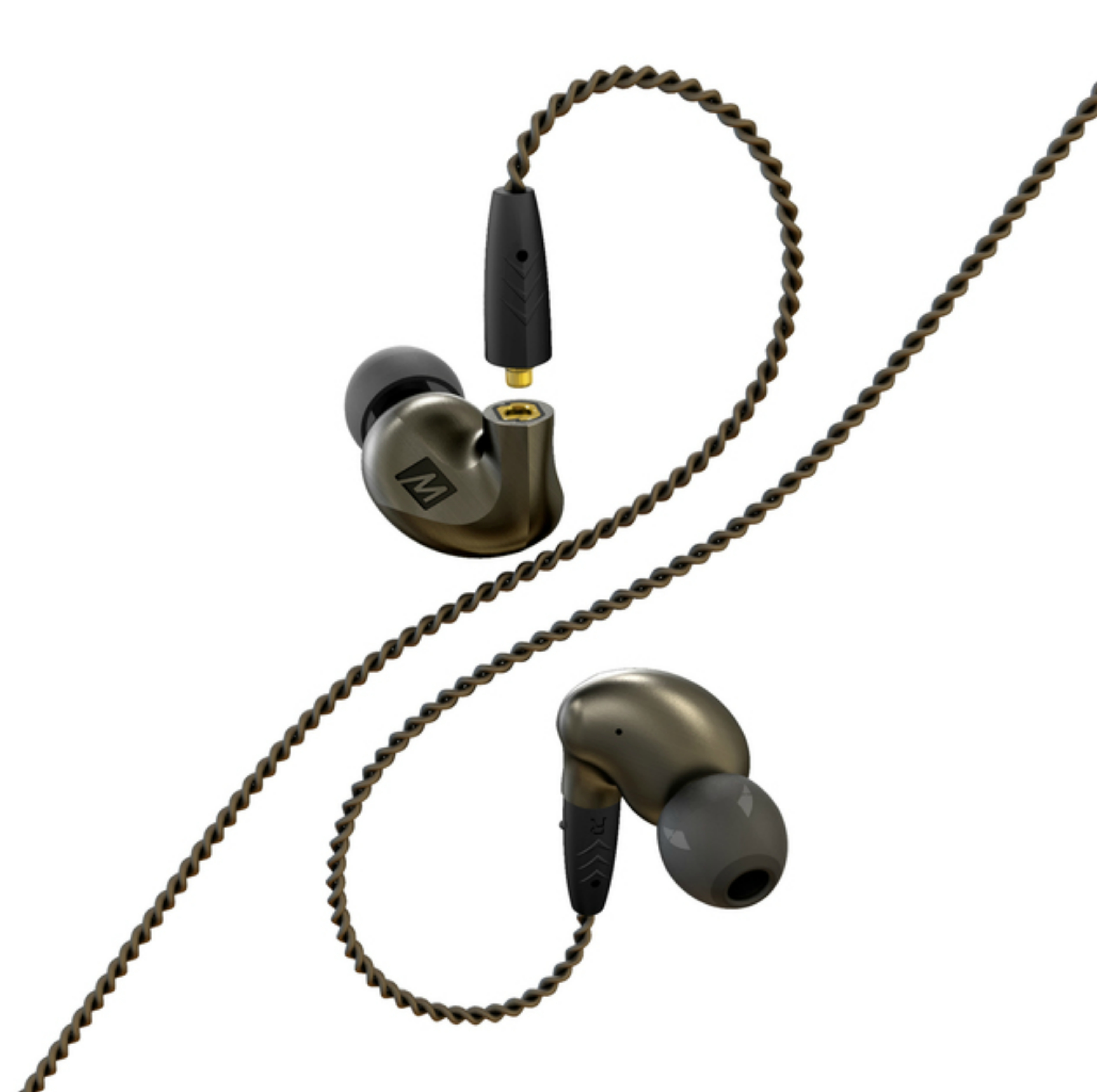 MEE Audio Pinnacle P1 In Ear Isolating Headphones?Replaceable Cable & Mic?Black?