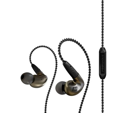MEE Audio Pinnacle P1 In Ear Isolating Headphones?Replaceable Cable & Mic?Black? Thumbnail 2