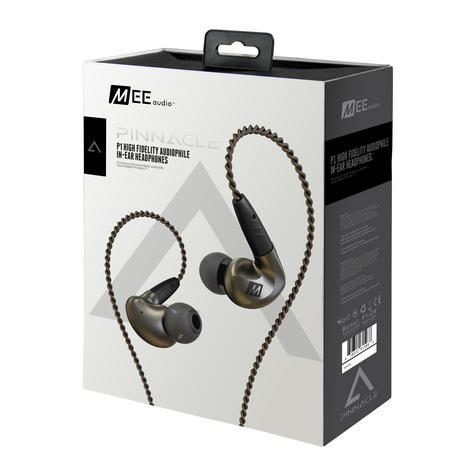 MEE Audio Pinnacle P1 In Ear Isolating Headphones?Replaceable Cable & Mic?Black? Thumbnail 4