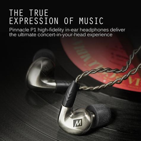 MEE Audio Pinnacle P1 High Fidelity Audiophile In-Ear Headphones + MMCX Cable  Thumbnail 7
