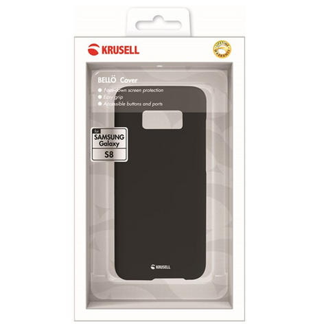 Krusell Bellö Back Case | Protective Mobile Phone Cover | For Samsung Galaxy S8 | Black Thumbnail 4