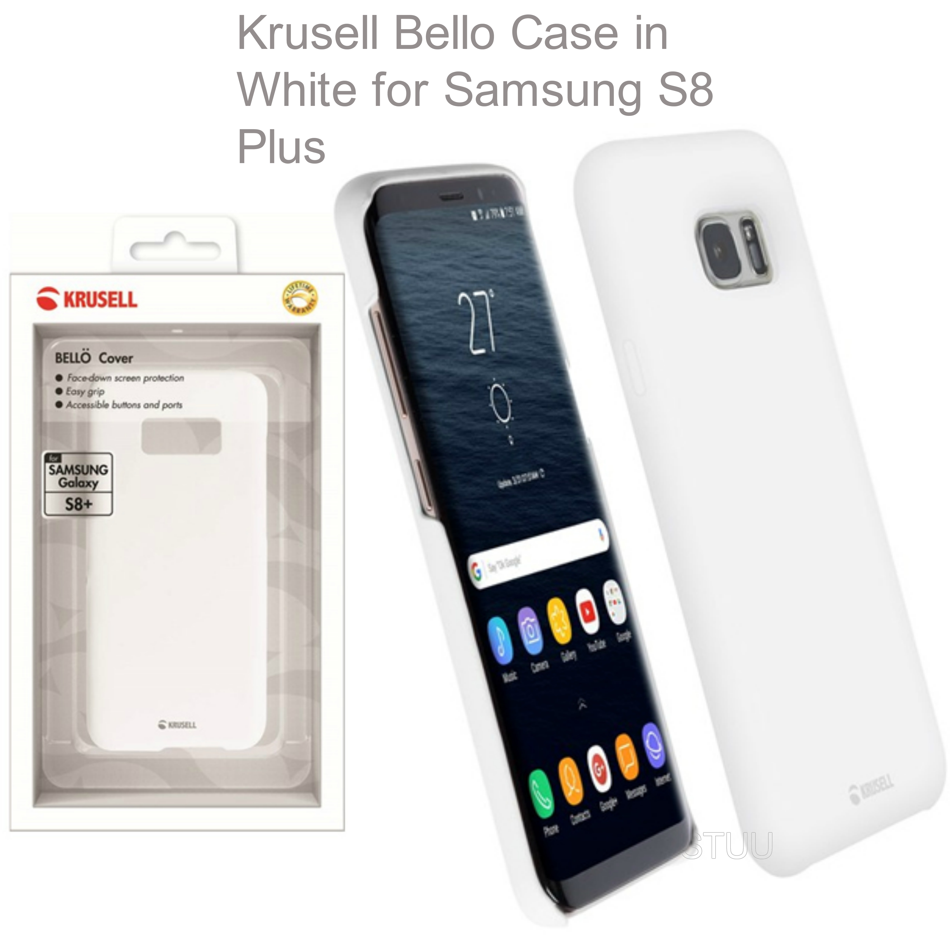 Krusell Bello Back Case | Protective Mobile Phone Cover | For Samsung Galaxy S8 Plus