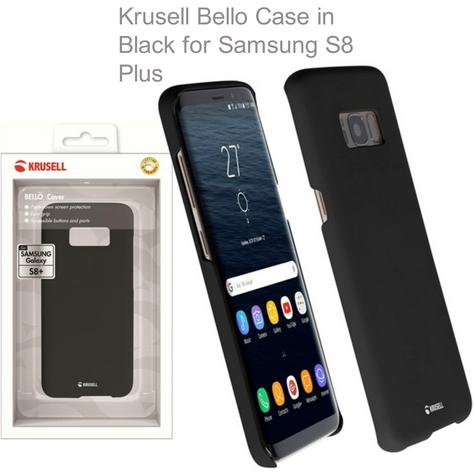 GENUINE Krusell Bellö Slim Soft Cover Case for Samsung S8 Plus - Black - NEW Thumbnail 1
