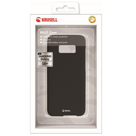 GENUINE Krusell Bellö Slim Soft Cover Case for Samsung S8 Plus - Black - NEW Thumbnail 4