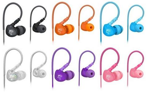 M6 Memory Wire In-Ear Headphones - Black / Clear / Pink / Tea / White / Various Colours Thumbnail 2