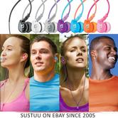 M6 Memory Wire In-Ear Headphones - Black / Clear / Pink / Tea / White / Various Colours