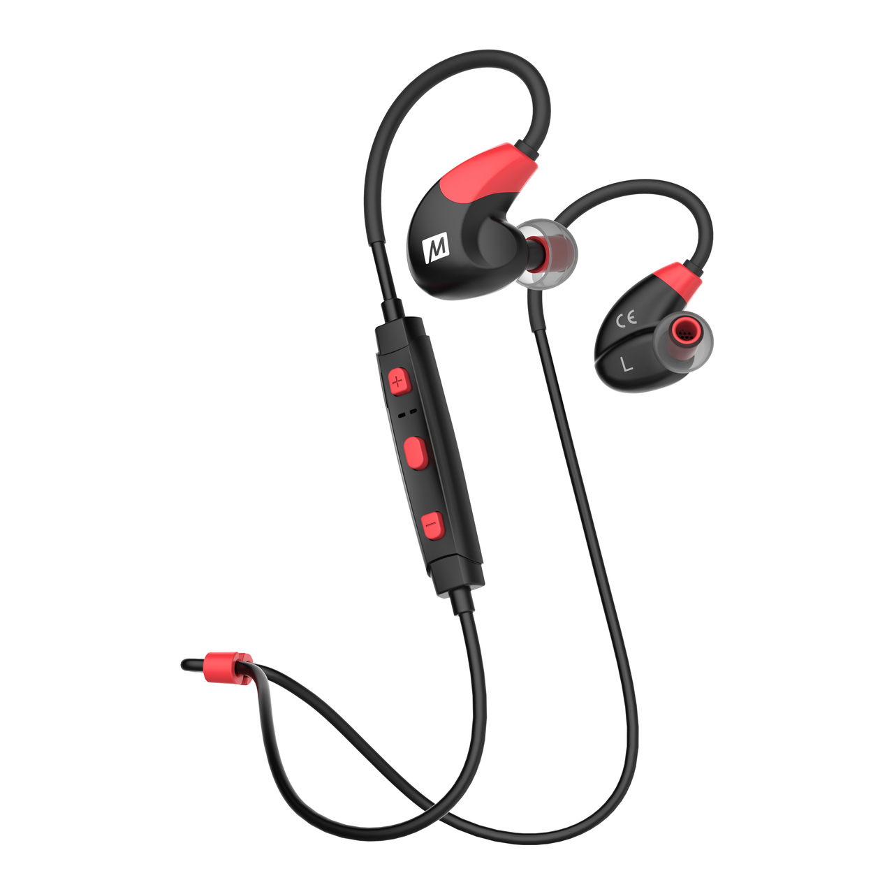 MEE Audio X7 In-Ear Headphones / Bluetooth / Wireless / Microphone / Battery - Red/Black