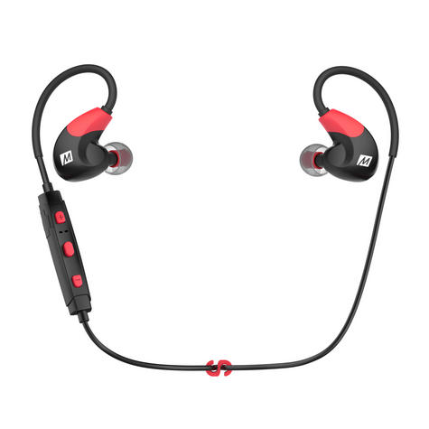 MEE Audio X7 In-Ear Headphones / Bluetooth / Wireless / Microphone / Battery - Red/Black Thumbnail 2