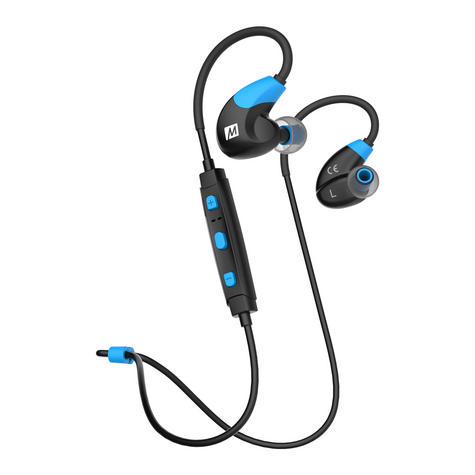 MEE Audio X7 In-Ear Headphones / Bluetooth / Wireless / Microphone / Battery  Blue/Black Thumbnail 1
