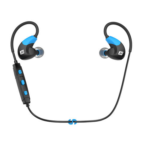 MEE Audio X7 In-Ear Headphones / Bluetooth / Wireless / Microphone / Battery  Blue/Black Thumbnail 2