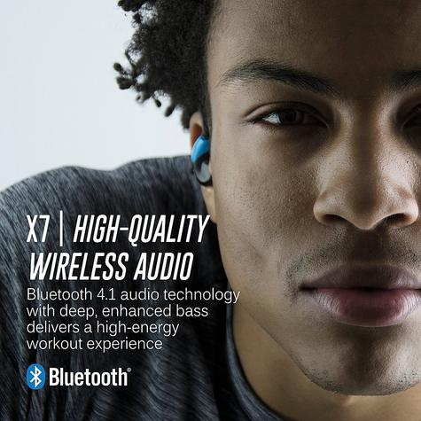 MEE Audio X7 In-Ear Headphones / Bluetooth / Wireless / Microphone / Battery  Blue/Black Thumbnail 8