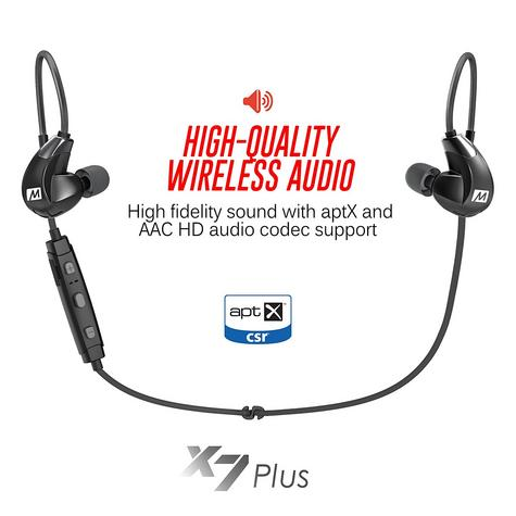 MEE Audio X7 Plus In-Ear Stereo Bluetooth Wireless Sports Headphone | Memory Wire Thumbnail 6