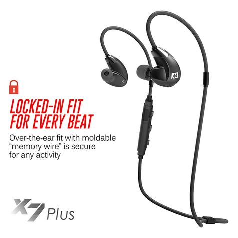 MEE Audio X7 Plus In-Ear Stereo Bluetooth Wireless Sports Headphone | Memory Wire Thumbnail 7