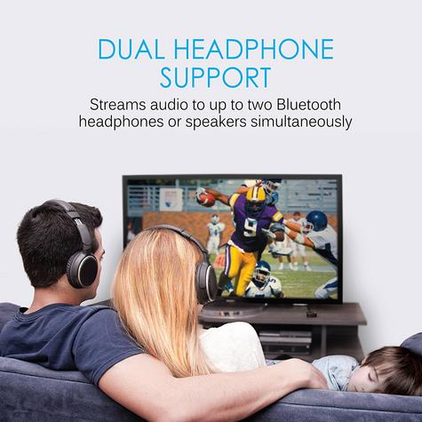 MEE Audio Connect AFT1 Dual Headphone Bluetooth Wireless Audio TV Transmitter Thumbnail 8