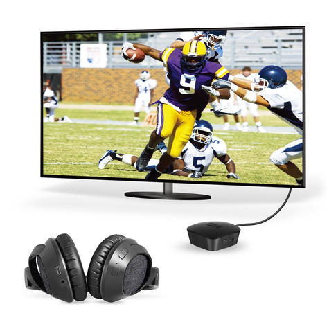 MEE Audio Bluetooth Wireless Headphone + Transmitter Bundle TV Set?Dual Channel Thumbnail 2
