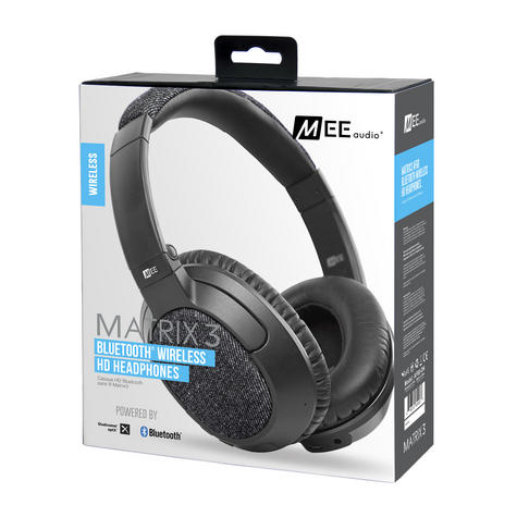 MEE Audio Matrix3 Over-the-Ear Bluetooth Wireless HD Headphone with aptX and AAC Thumbnail 7