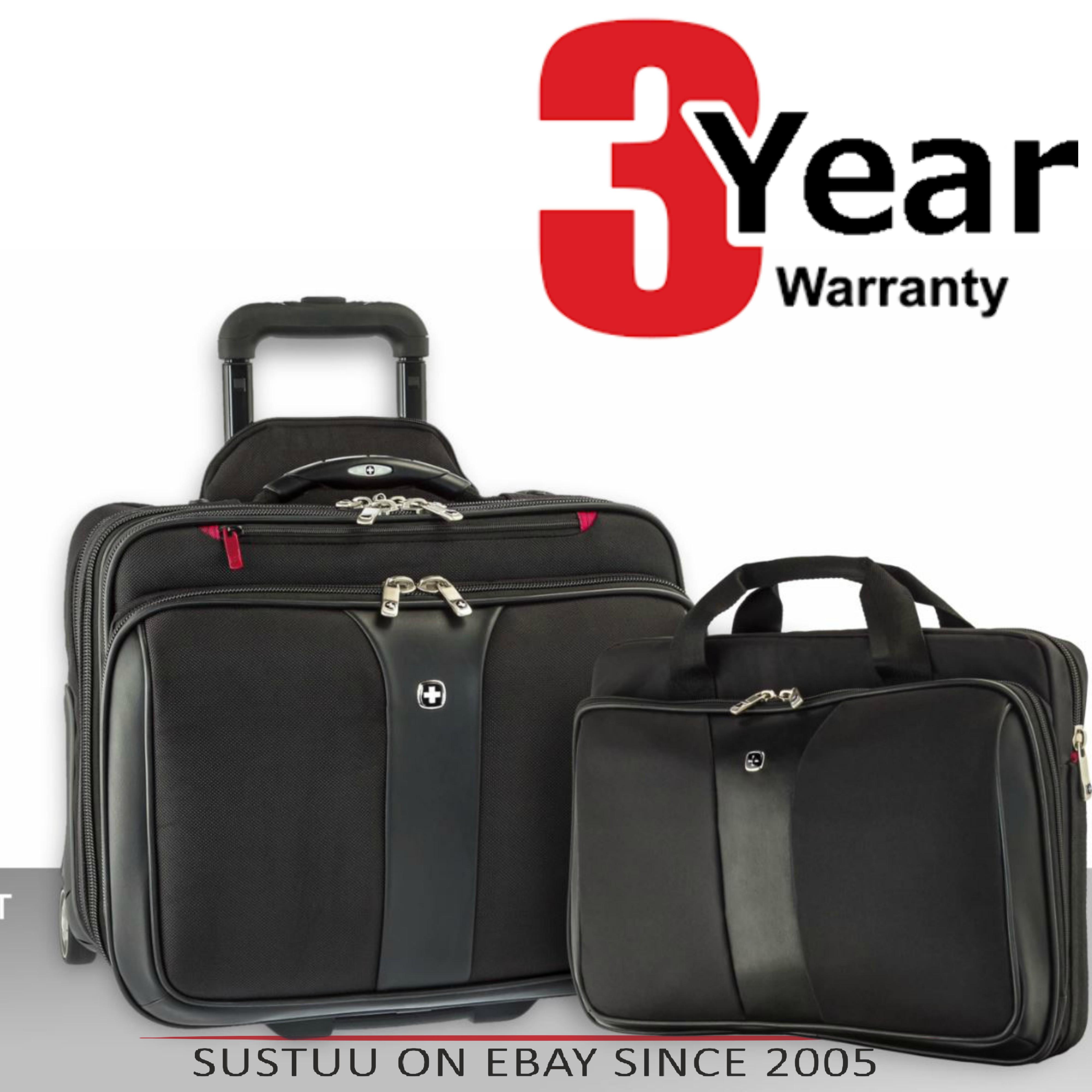 "Wenger 600662 Patriot 17"" Roller Travel Set x 2|Trolley Strap|Flexible|3 Compart Bag"