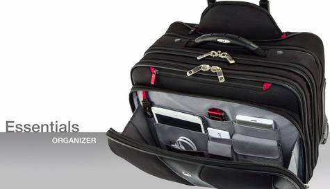 "Wenger 600662 Patriot 17"" Roller Travel Set x 2|Trolley Strap|Flexible|3 Compart Bag Thumbnail 2"