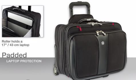 "Wenger 600662 Patriot 17"" Roller Travel Set x 2|Trolley Strap|Flexible|3 Compart Bag Thumbnail 3"