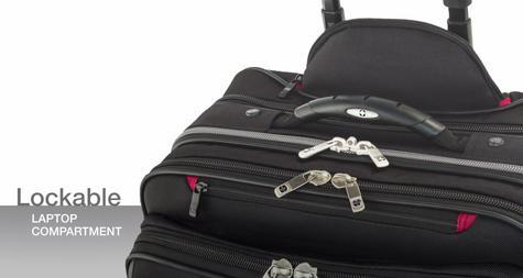 "Wenger 600662 Patriot 17"" Roller Travel Set x 2|Trolley Strap|Flexible|3 Compart Bag Thumbnail 6"
