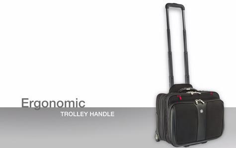 "Wenger 600662 Patriot 17"" Roller Travel Set x 2|Trolley Strap|Flexible|3 Compart Bag Thumbnail 7"