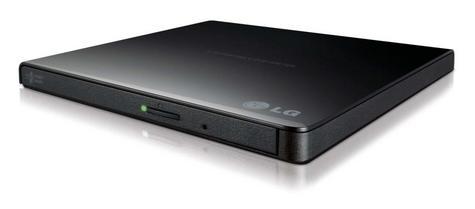 LG GP57EB Ultra Slim Portable USB 2.0 DVD-RW|CD DVD M-Disk Support|Drawer- Black Thumbnail 3