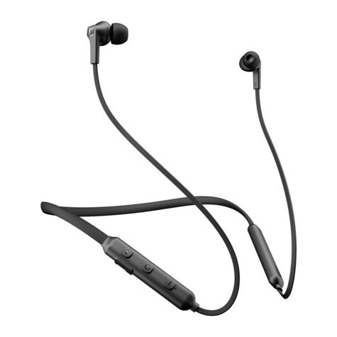 MEE Audio EP-N1-BK-MEE N1 Bluetooth Wireless Neckband In-Ear Headphones - Black Thumbnail 1