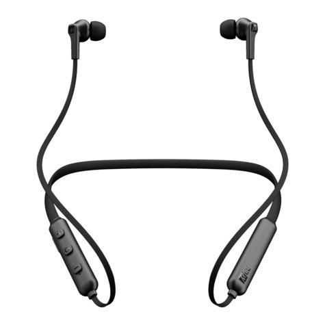 MEE Audio EP-N1-BK-MEE N1 Bluetooth Wireless Neckband In-Ear Headphones - Black Thumbnail 2
