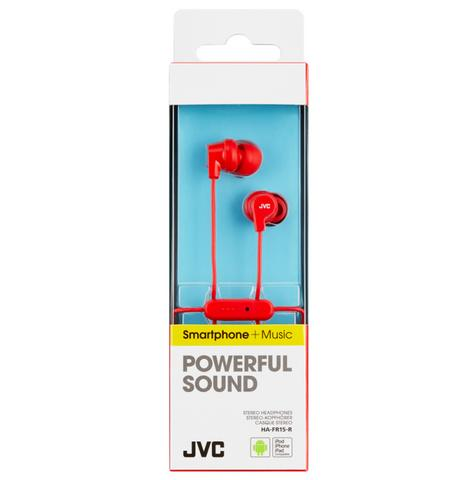JVC HAFR15R Colourful Headphones|In Ear|9mm|L-Plug|In-Ear|Remote|Mic|iPhone|Red| Thumbnail 3