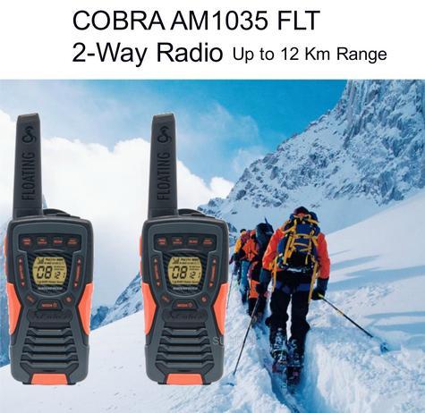 Cobra Adventure AM1035 FLT|12km Floating Range|2-Way Radio Walkie Talkie|2-Pack Thumbnail 1