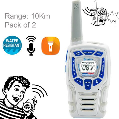 Cobra Adventure AM845 Snow|2way Private Mobile Radio-PMR|WalkieTalkie Radio|10Km Thumbnail 1