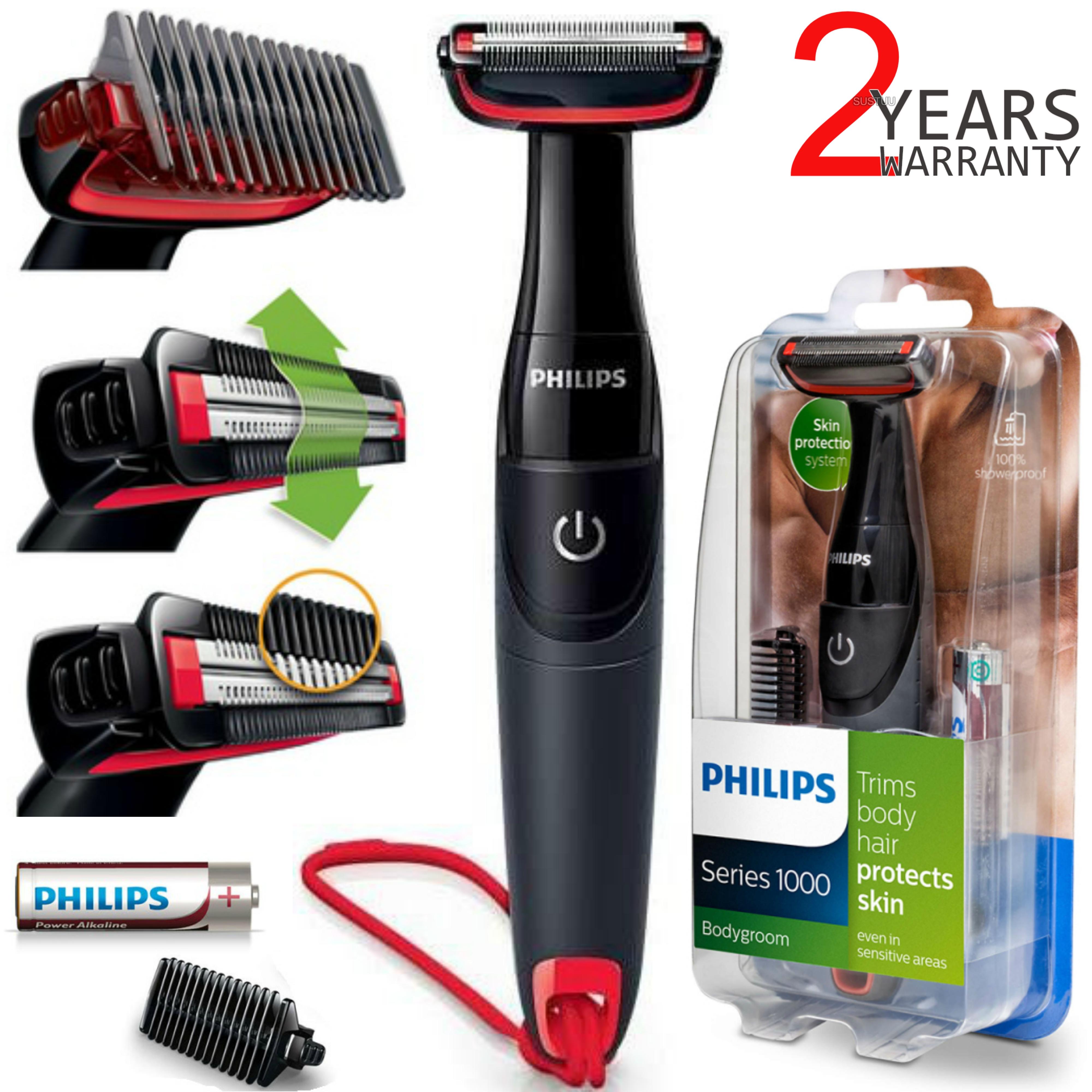 Philips Series 1000 | Men's Body Hair Groomer Shaver & Trimmer | Waterproof | BG105/10