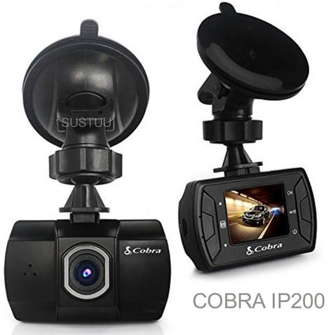 "Cobra IP200|1.5"" Full HD Car-Truck Dash Camera