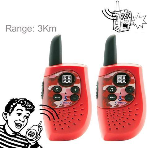 Cobra Hero Fire HM230R|2-way Private Mobile Radio-PMR|WalkieTalkie Radio|3Km|Red Thumbnail 1