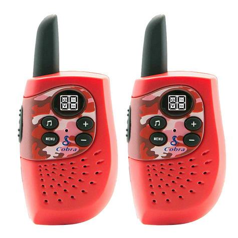 Cobra Hero Fire HM230R|2-way Private Mobile Radio-PMR|WalkieTalkie Radio|3Km|Red Thumbnail 2