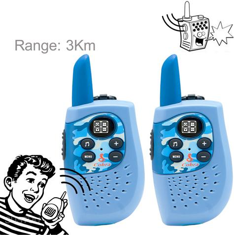 Cobra Hero Fire HM230R|2-way Private Mobile Radio-PMR|WalkieTalkie Radio|3Km|Blue Thumbnail 1