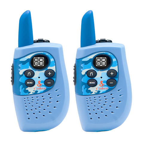 Cobra Hero Fire HM230R|2-way Private Mobile Radio-PMR|WalkieTalkie Radio|3Km|Blue Thumbnail 2