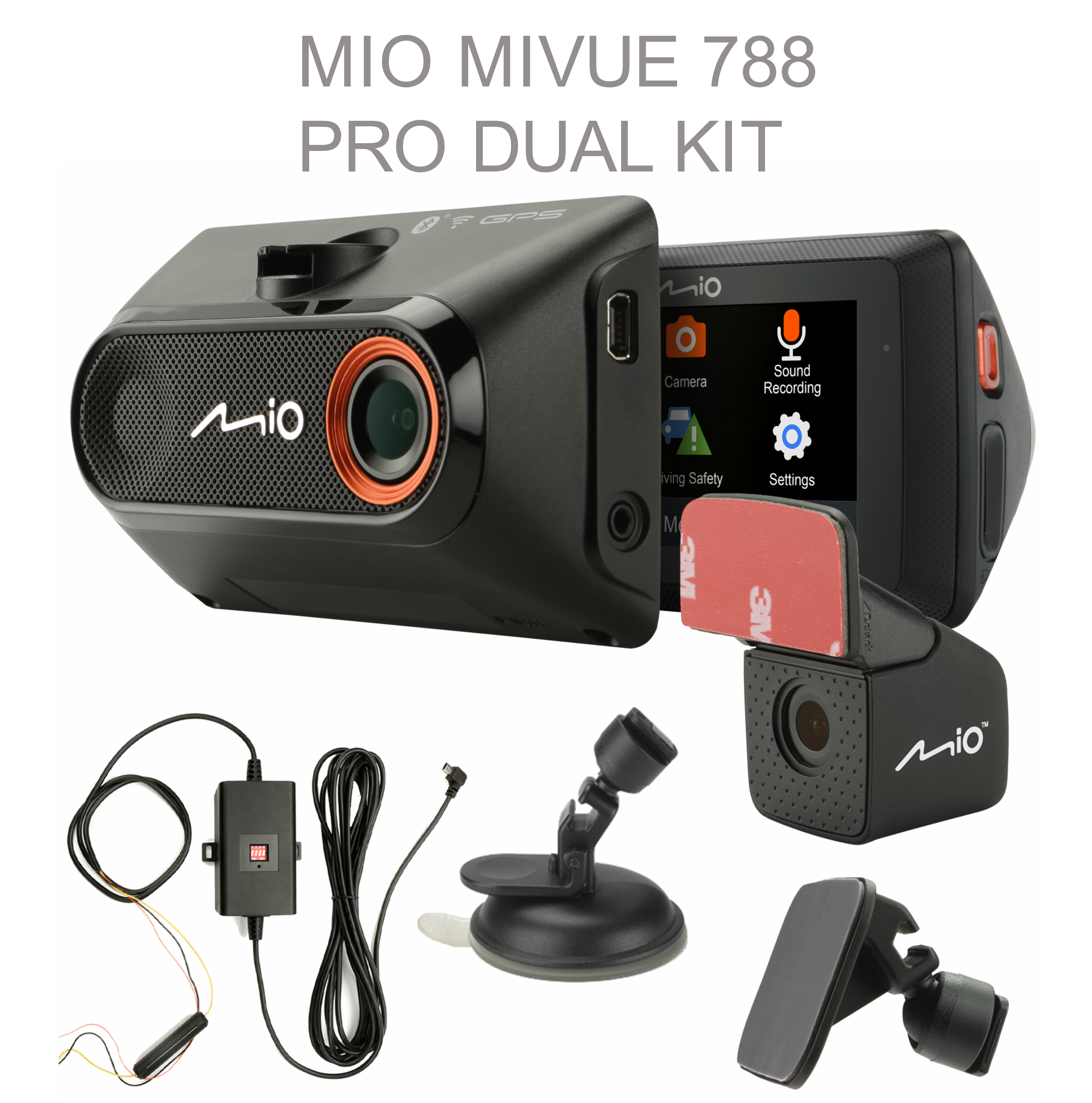 mio mivue 788 pro wifi front rear car dash cam kit 2 7 1080p hd recording new sustuu. Black Bedroom Furniture Sets. Home Design Ideas