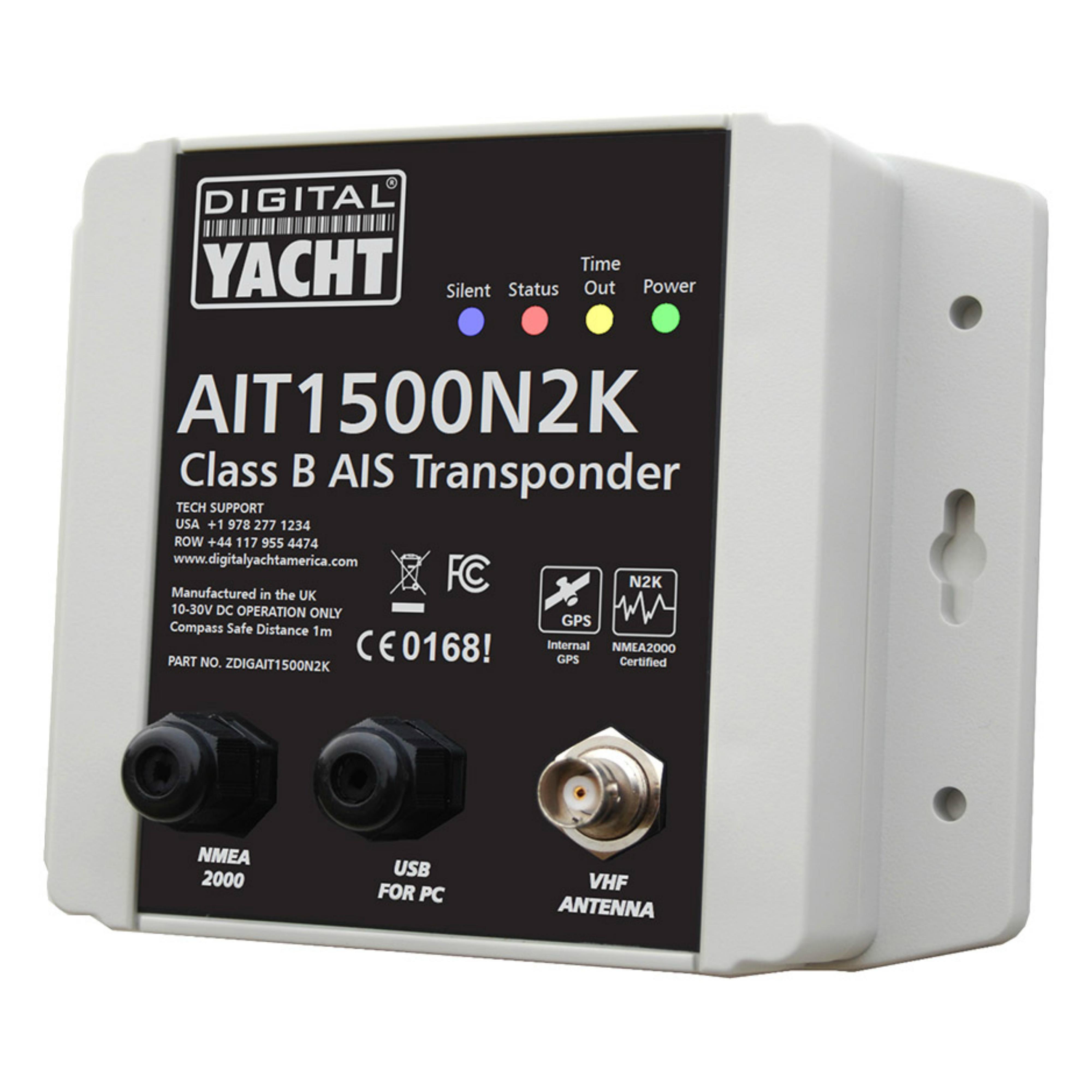 Digital Yacht-AIT1500N2K|Class B Transponder|Int GPS Antenna|Plug 'n Play NMEA 2000