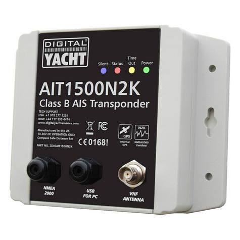 Digital Yacht-AIT1500N2K|Class B Transponder|Int GPS Antenna|Plug 'n Play NMEA 2000 Thumbnail 1