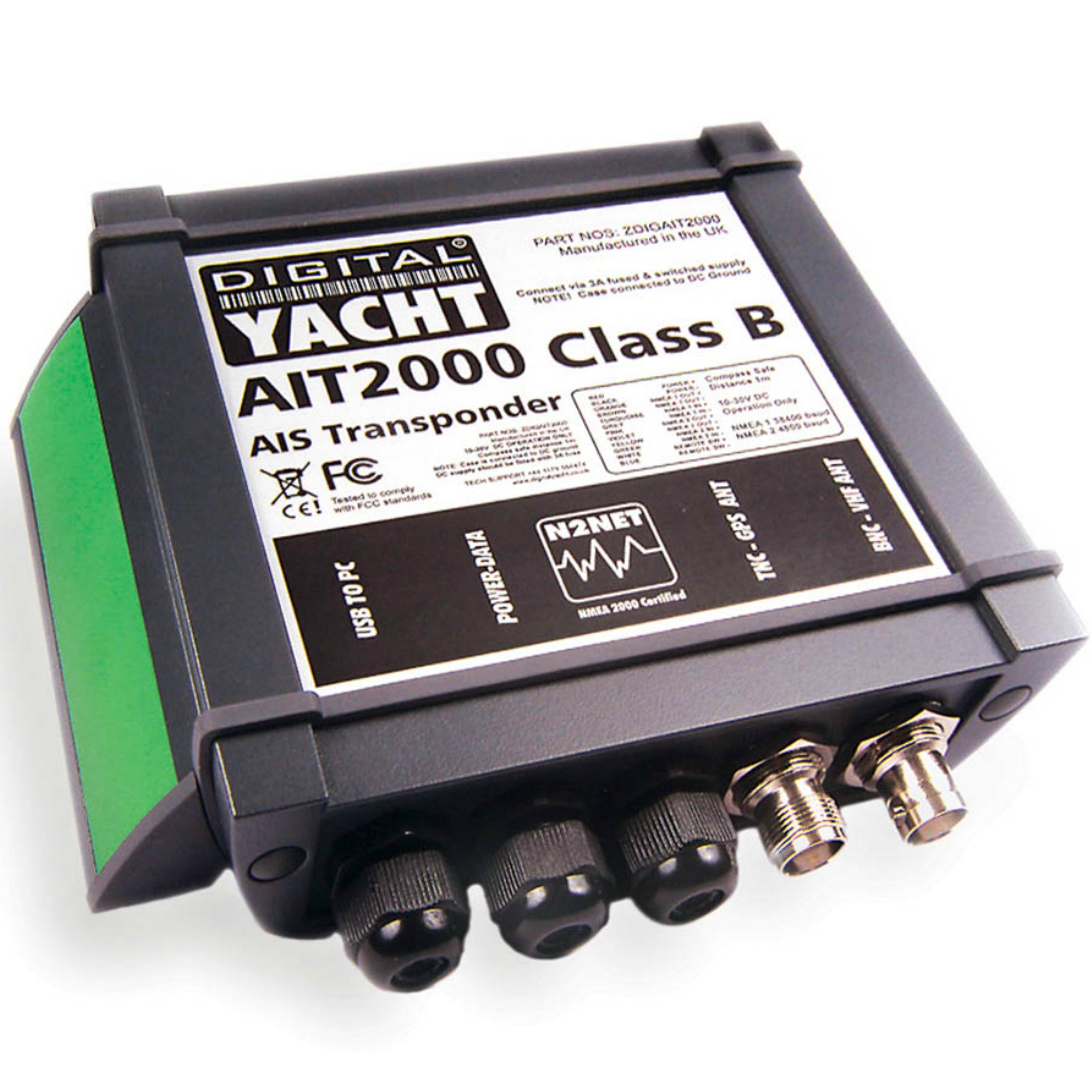 Digital Yacht-AIT2000|Class B AIS Transponde w/GPS Antenna|High Speed|Connect PC & MAC